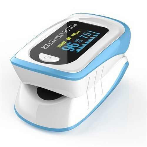 Fingertip Pulse Oximetry Detector Finger Clip Type Oximeter Hand Held FDA Finger Clip Light blue