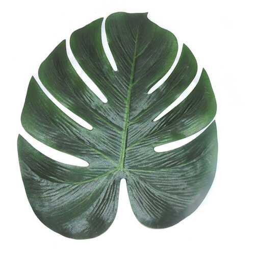 12pcs 35x29cm Artificial Tropical Palm Leaves