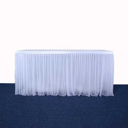 Stretch Yarn Elegant Mesh Fluffy Tutu Table S