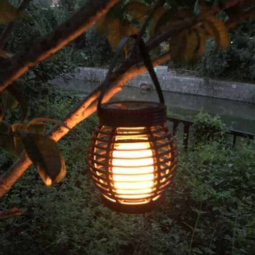 LED Waterproof Solar Powered Candle Lantern