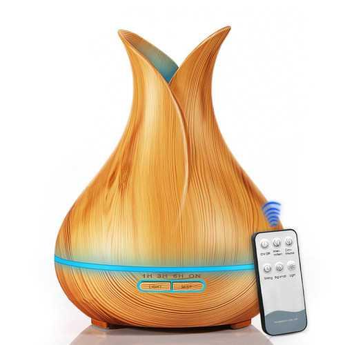 400ML Dark Wood Humidifier EU Plug Light Wood