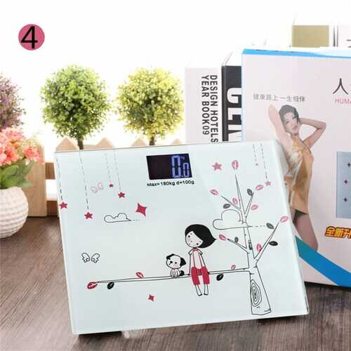 Cartoon Backlit Light Vision Household Cartoon Pattern Weighing Scale 21 * 25cm