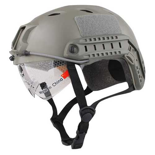 Windproof Helmet with Goggles