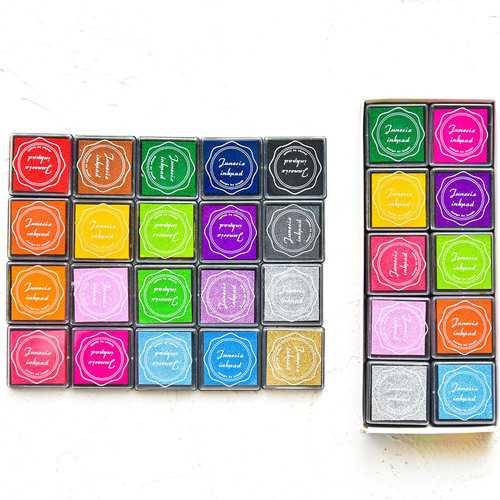 20Colors 4*4cm DIY Scrapbooking Vintage Crafts Ink Pad Colorful Rubber Stamps Finger Painting Inkpad 20pcs/set