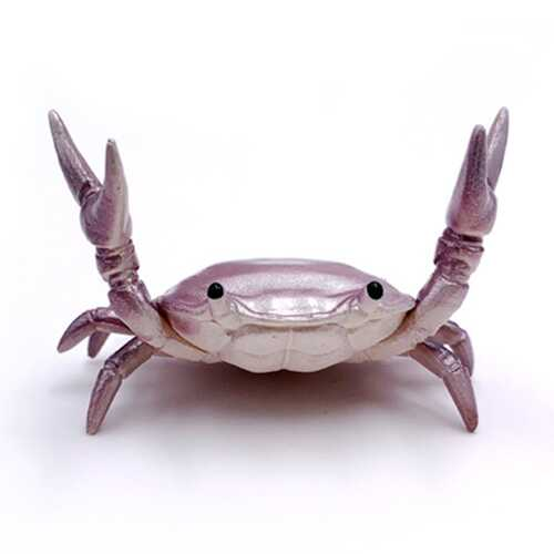 Funny Cute Crab Pen Holder Weightlifting Crabs Penholder Bracket Storage Rack purple