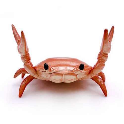 Funny Cute Crab Pen Holder Weightlifting Crabs Penholder Bracket Storage Rack red