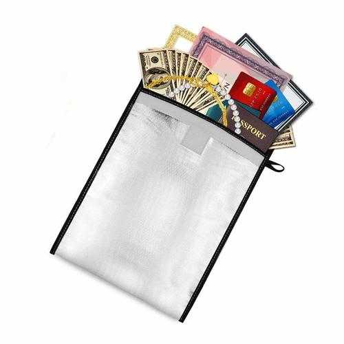 Two Sided Aluminum Foil Coated Waterproof Fire-proof A4 File Document Bag