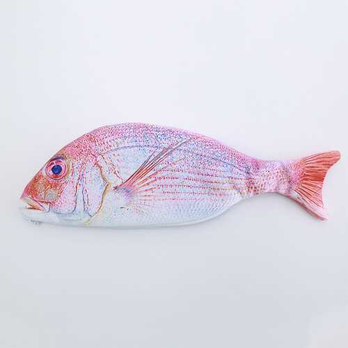 Fashion Fish Shape Pencil Bag Stationery Storage Case Red fish_27*11