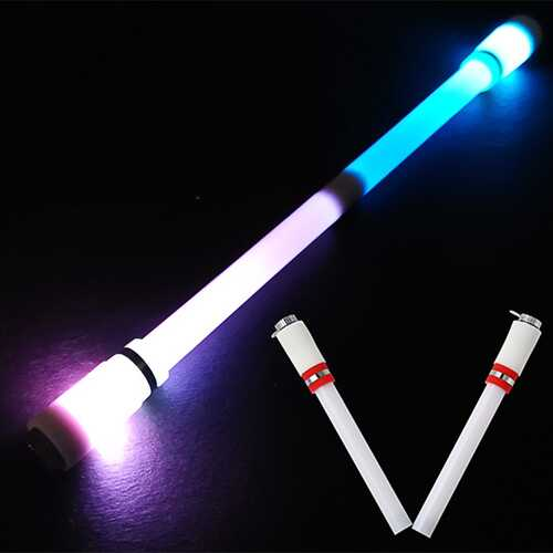 Children Colorful Special Illuminated Anti-fall Spinning Pen Rolling Pen  A1 red (lighting)
