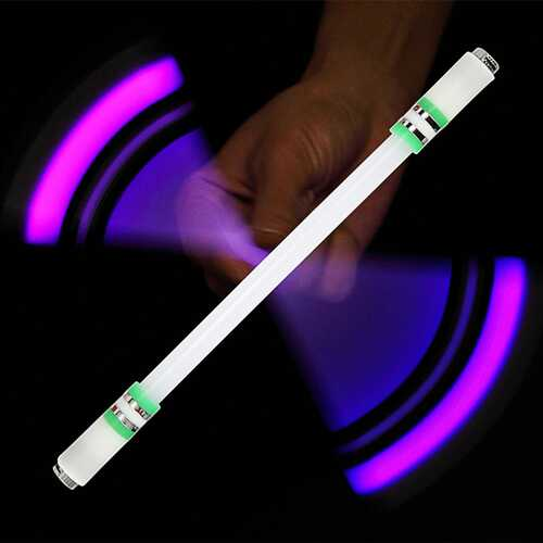 Children Colorful Special Illuminated Anti-fall Spinning Pen Rolling Pen  A16 green (lighting section)