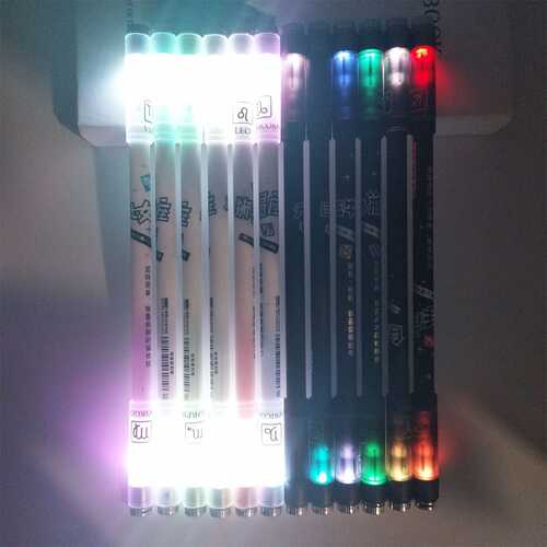 Cute Novel 12 Constellation Colorful Lights Rotating Gel Pen 0.5mm