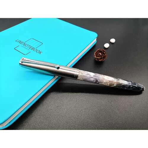 Acrylic Pen Classic Translucent Business Signature Student Pen for School Office Smoke gray acrylic_Dark tip 0.38MM