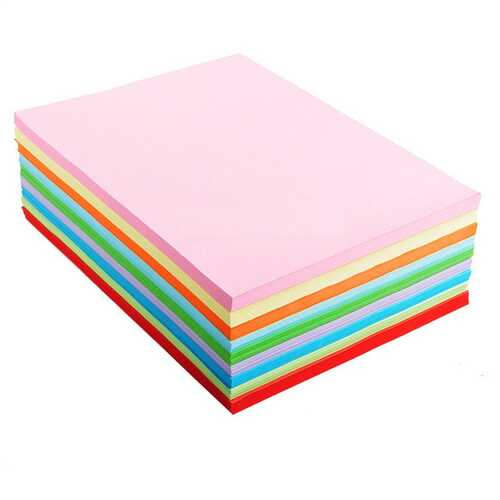 Alician A4 Assorted Colored Origami Paper
