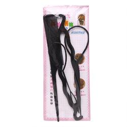 4 Pcs/set Hair Accessories Tie-half-ball Head Hair Iron Fluffy Shape Flower Headdress black