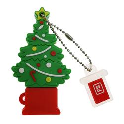 Christmas Tree Waterproof U DISK Green 4GB