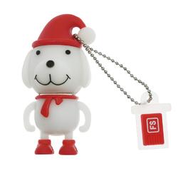 Cute Dog Design U Disk White 128GB