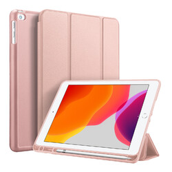 DUX DUCIS For iPad pro 7 10.2Inches 2019 PU Leather +TPU Back Shell Full Protective Case with Pen Holder Pink