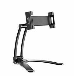 2 in 1 Flexible Lazy Bracket Pull-Up Desktop/Wall Cell Phone Tablet Holder Stand Adjustable Mount black
