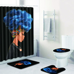 African Women Printing Bathroom Set