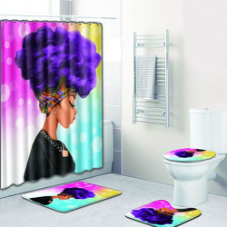 African Women Printing Toilet Pad Set