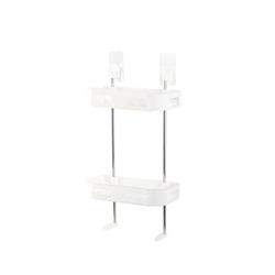 Free Punching Double Layer Storage Rack for Bathroom Toilet Organize white_Second floor