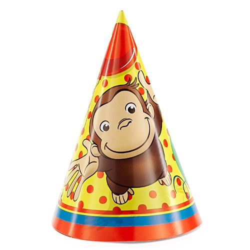 Curious George Party Hats [8 Per Pack]