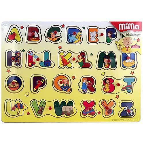Caillou Wood Peg Puzzle [Alphabet]