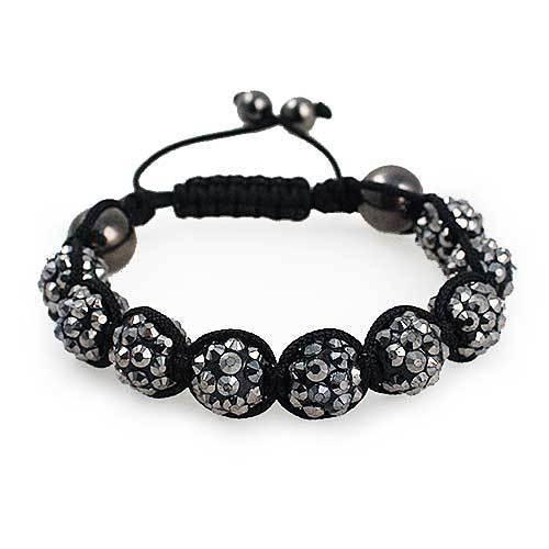 Shamballa Bracelet [Silver/Charcoal]