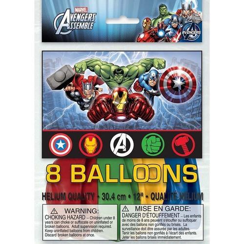 Marvel's Avengers Latex Balloons [8 Per Package]