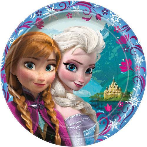 Disney Frozen 9 Inch Plates [8 Per Pack]