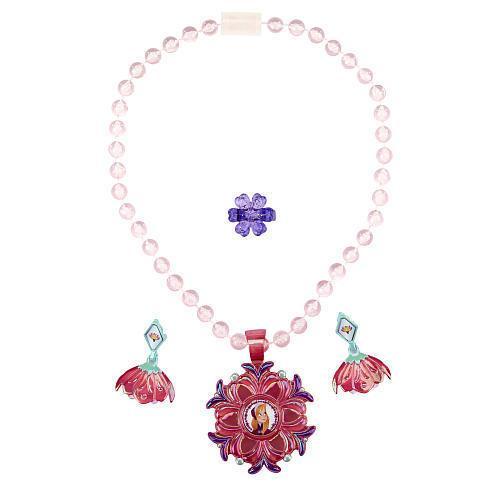 Disney Frozen Anna Sparkling Flower Jewelry Set