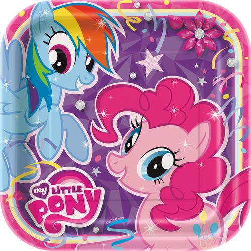 My Little Pony 9 Inches Square Party Plates [8 Per Pack]