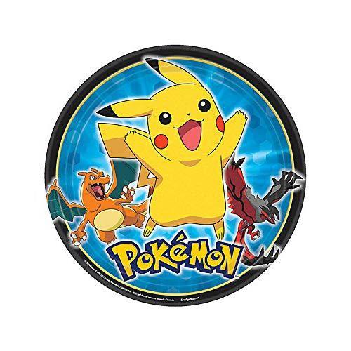 Pokemon Pikachu and Friends Dinner Plates [8 Per Pack]