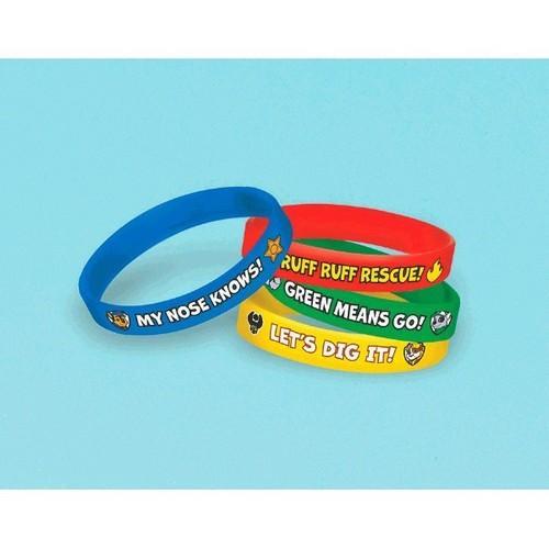 Paw Patrol Rubber Bracelets [4 per Package]