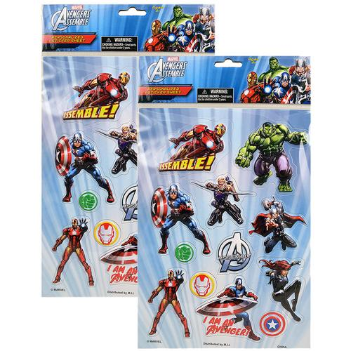 Marvel Avengers Assemble Personalized Sticker Sheet [2 Pack]