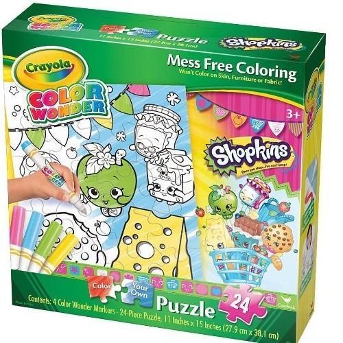 Crayola Color Wonder Shopkins Puzzle [24 Pieces]
