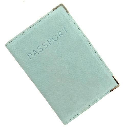Austin House Genuine Suede Passport Cover - Green