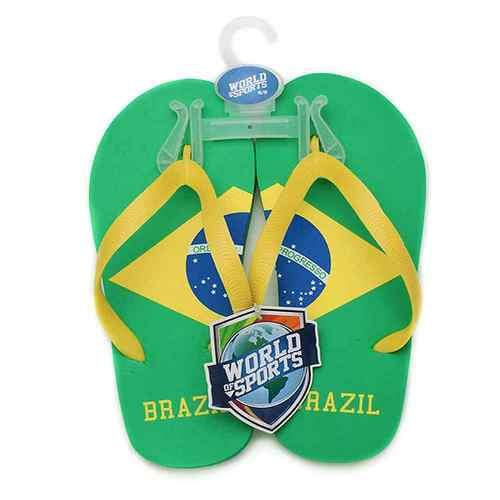 World of Sports Flip-Flops - Brazil - Small