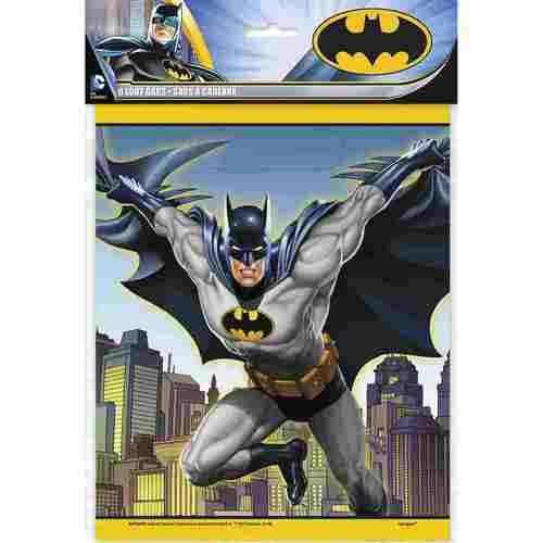 Batman Plastic Loot Bags [8 Per pack]