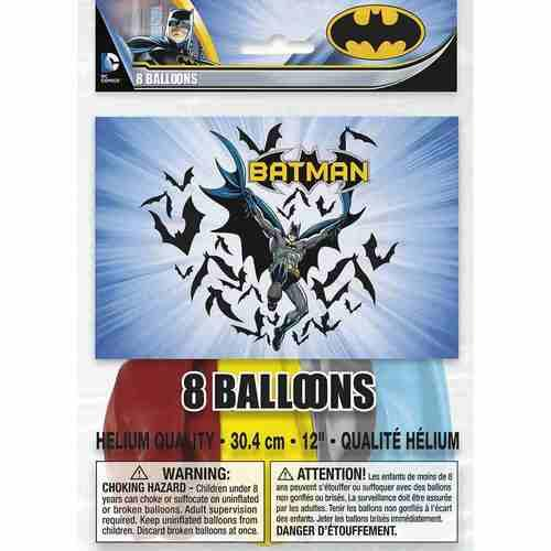 Batman Party Balloons [8 Per pack]