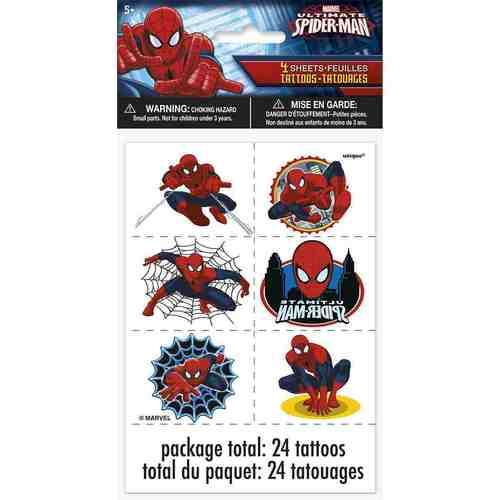 Spider-ManTattoo Sheets [4 Sheets]