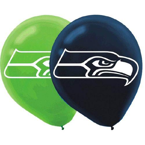NFL Seattle Seahawks Printed Latex Balloons [6 in pack]