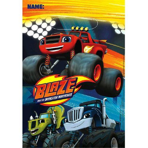 Blaze and the Monster Machines Folded Loot Bags [8 Per Pack]