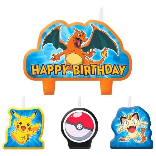 Pokemon Pikachu & Friends Birthday Candle Set