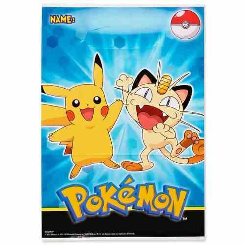 Pikachu & Friends Folded Loot Bags [8 Per Pack]