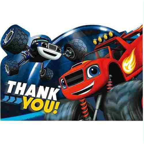 Blaze and the Monster Machines Postcard Thank You Cards [8 Per Pack]