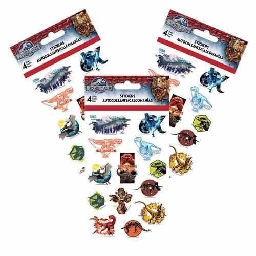Jurassic World Stickers [3 Packs of 4 Sheets Ea]