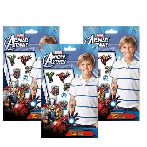 The Avengers Assemble Tattoo Set [3 Pack]