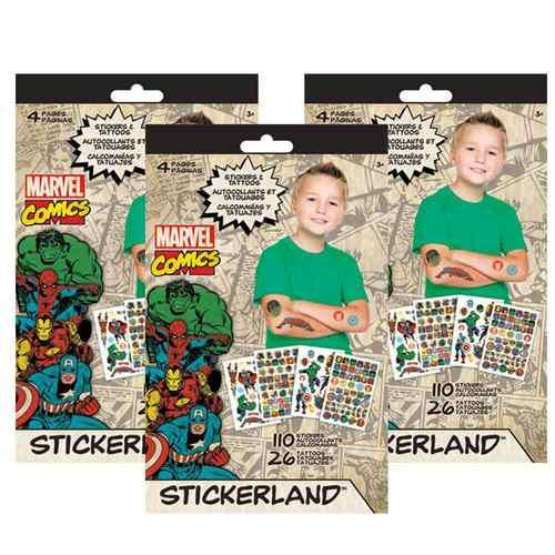 Marvel Comics Stickerland Sticker Set [3 Books]