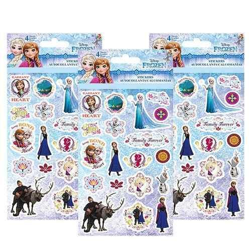 Disney Frozen Sticker Sheets [3 Packs of 4 Sheets Ea]